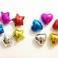 Balon foil love kecil I Balon hati I Balon ulang tahun