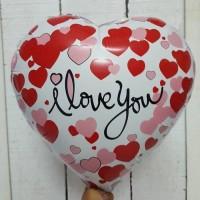BALON FOIL I LOVE YOU MOTIF LOVE