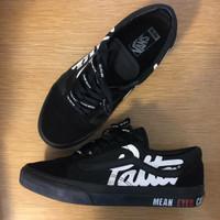 Sepatu Vans Oldskool x Patta × Mean Eyed Cat Black - Premium