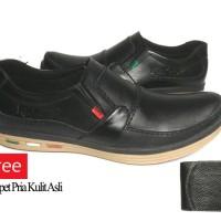 Sepatu Kulit Kickers Casual Premium (Free Dompet Kulit Asli)