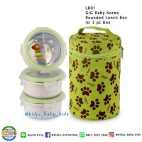 GIG Baby Korea Rounded Lunch Box Set Tempat Makan Siang Lunch Jar Set
