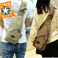 sling bag santai / tas punggung / tas kanvas / tas import