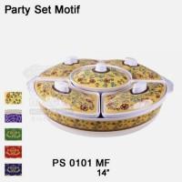 Party Set Motif Relief Flower 14 Melamine - Golden Dragon PS0101MK