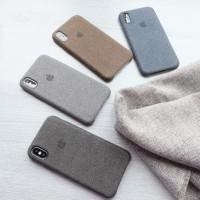 Canvas Case Iphone 6/6 Plus/7/7 Plus/8/8 Plus/X/10 Casing Hardcase