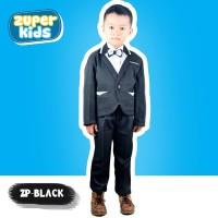 ZP-BLACK - Pakaian Setelan Jas Anak Pesta Resmi Formal Abu Cowok Pria