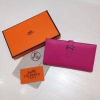 Dompet Wanita  Wallet Hermes Kode : 520 Mirror Quality  Pink Tua