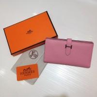 Dompet Wanita  Wallet Hermes Kode : 520 Mirror Quality  Pink Muda