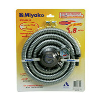 Selang paket gas Miyako RMS-106 / Selang + Regulator