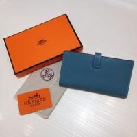 Dompet Wanita  Wallet Hermes Kode : 520 Mirror Quality  Biru Muda