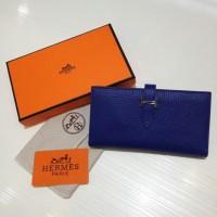 Dompet Wanita  Wallet Hermes Kode : 520 Mirror Quality  Navy