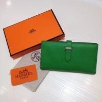 Dompet Wanita  Wallet Hermes Kode : 520 Mirror Quality  Hijau