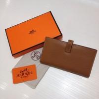 Dompet Wanita  Wallet Hermes Kode : 520 Mirror Quality  Coklat