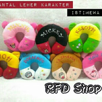 Bantal Leher Karakter Hello Kitty Mickey Doraemon Tazmania Keroppi