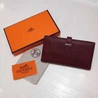 Dompet Wanita  Wallet Hermes Kode : 520 Mirror Quality  Maroon
