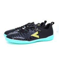 SEPATU FUTSAL MITRE OPTIMIZE IN BLACK YELLOW LITE TOSCA