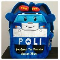 Tas Anak Karakter ROBOCAR POLI 38cm~BO Ransel Import Policar Backpack