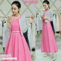 Set Dress Pink Lilian Polka Babyterry