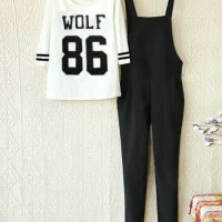 Jumpsuit Overall Wolf 86 Set
