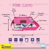 GabaG Cooler Bag (pendingin ASI) Pink Camo Free Ice Gel 2pcs
