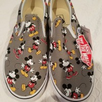 VANS X DISNEY MICKEY MOUSE Mens Shoes 11.5 Classic Slip On NIB