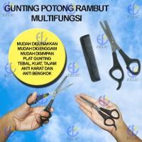 EELIC GUR-S1SET Gunting Rambut Gunting Sasak dan sisir  Stainless Stee