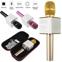 Mic Microphone SMULE Q9 KARAOKE Mikrophone Speaker Karaoke Di HP