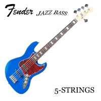Gitar Bass Elektrik Fender Jazz Bass 4 / 5-Strings Custom Blue Biru