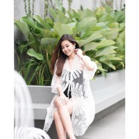 SUNFLOWER Outer Beach Top Kimono Bikini Outer Cover Up Baju Pantai Bra