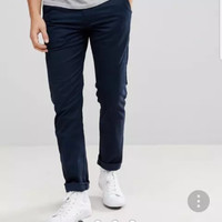 celana distro pria premium chinos korea non jeans chino navy m l xl