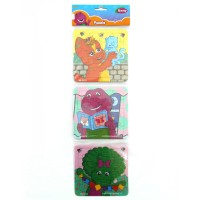 Puzzle 3 in 1 Barney Creativity - Mainan Puzzle Barney