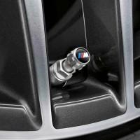 Original BMW M Performance Valve Stem Cap Tutup Pentil Mobil 4pcs