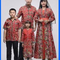 BAJU BATIK COUPLE SARIMBIT ATTARSYAH FAMILY PLUS 2 ANAK SERAGAM PESTA