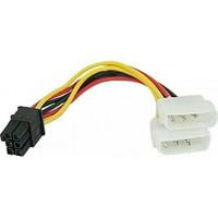 KABEL POWER 6 PIN TO VGA PCI E ( 4 PIN MOLEX TO 6 PIN F 14 CM).CABANG