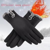 kaos tangan musim dingin/winter gloves /sarung tangan musim dingin 002 - Hitam