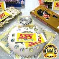 Gear set SSS Satria FU Lama dan Baru Termurah