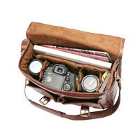Tas Kamera Kulit DSLR dan Laptop - Large Size