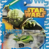 Hot Wheels Star Wars Characters Master Yoda hijau Hotwheels Diecast