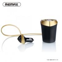 REMAX Smart Car Charger 3 USB Port 5V 3.4A LED Display CR-3XP Black