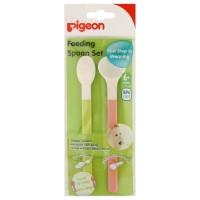 PIGEON Baby Feeding Spoon Set Sendok Makan Bayi 6m+ BPA Free