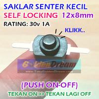 Saklar Senter Kecil 30v 1A 2 Kaki Self Locking Push On Off Switch DC