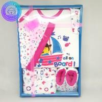 Paket Baju Bayi + Rok Baru Lahir / Gift Set Baby Newborn Pink