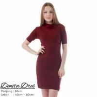 Donita dress premium turtleneck baju rajut wanita dress murah andung