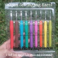 Hakpen Set Rajut Soft Handle (Set Crochet Hooks Soft Handle)