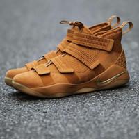Sepatu Basket Nike Lebron Soldier 11 Full Brown Premium Original