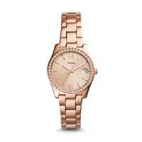 Jam Tangan Wanita FOssil Original ES3718 Scarlette Date Rose Gold