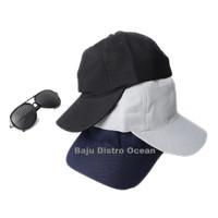 Topi Baseball Polos Cap Tumblr Belakang Pengait Besi Dewasa