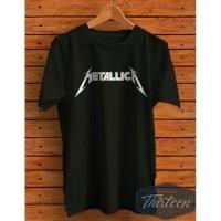 Kaos Tshirt Baju Combed 30S Distro Band Metal Metallica Jersey Futsal