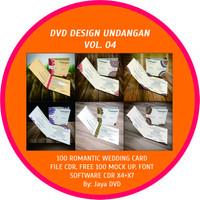 DVD desain Undangan Vol 4 - Romantic Wedding Card