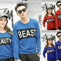 BAJU COUPLE LP BEAUTY BEAST