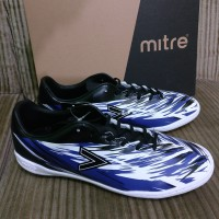 Sepatu Futsal Mitre Flare in Black Blue White Original